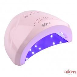 УФ LED лампа світлодіодна Sun One 48 Вт і 24 Вт, таймер 5, 30 і 60 сек, колір пастельно-рожевий
