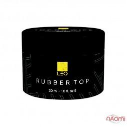 Топ каучуковий для гель-лаку LEO Rubber Top, 30 мл