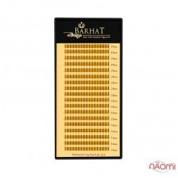 Пучковые ресницы Barhat 2D (Y) C 0.10 (18 рядов: 10, 12, 14 мм), черные