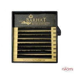 Вії Barhat B 0.10 (8 рядів: 6, 7, 8 мм), чорні