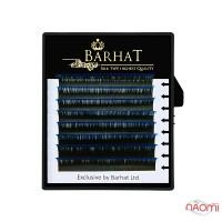 Ресницы двухтоновые Barhat C 0.10 (8 рядов: 9, 10, 11, 12 мм), черно-синие