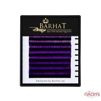 Ресницы двухтоновые Barhat C 0.10 (8 рядов: 9, 10, 11, 12 мм), черно-фиолетовые