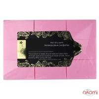 Серветки безворсові Starlet Professional, 6х4 см, 500 шт., колір рожевий