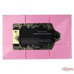 Салфетки безворсовые Starlet Professional, 6х4 см, 500 шт., цвет розовый