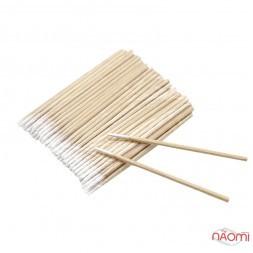 Ватяні палички дерев'яні ультратонкі Micro Cotton Sticks Henna Spa, 7 см, 100 шт.