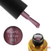 Гель-лак F.O.X Quartz Cat Eye 003 гранатовый с бликом, 6 мл