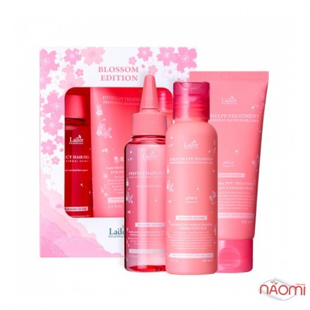 Лимитированный набор для волос La.dor Blossom Edition (Shampoo, Treatment, Hair Ampoule), 3x100 мл, фото 1, 436.00 грн.