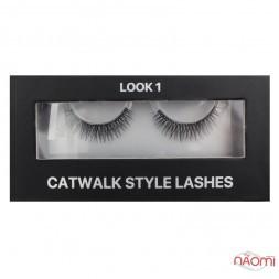 Вії накладні Kodi Professional Catwalk Style Lashes Look 1, на стрічці, чорні