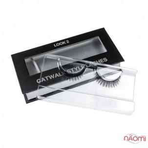 Вії накладні Kodi Professional Catwalk Style Lashes Look 2, на стрічці, чорні