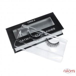 Вії накладні Kodi Professional Catwalk Style Lashes Look 3, на стрічці, чорні