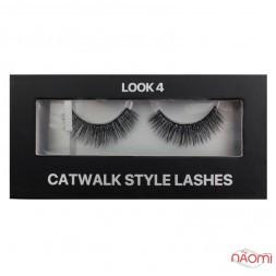 Вії накладні Kodi Professional Catwalk Style Lashes Look 4, на стрічці, чорні