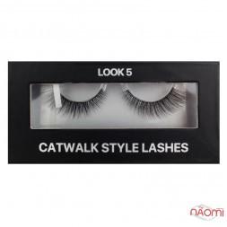 Вії накладні Kodi Professional Catwalk Style Lashes Look 5, на стрічці, чорні