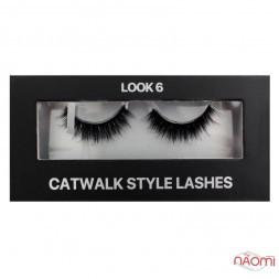Вії накладні Kodi Professional Catwalk Style Lashes Look 6, на стрічці, чорні
