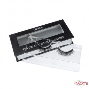 Вії накладні Kodi Professional Catwalk Style Lashes Look 6, на стрічці, чорні