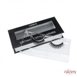 Ресницы накладные Kodi Professional Catwalk Style Lashes Look 6, на ленте, черные