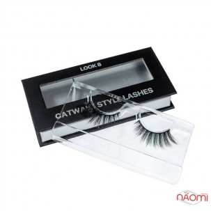 Вії накладні Kodi Professional Catwalk Style Lashes Look 8, на стрічці, чорні
