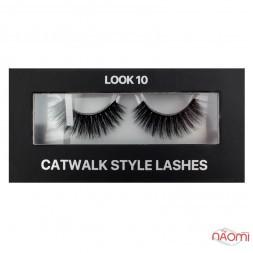 Вії накладні Kodi Professional Catwalk Style Lashes Look 10, на стрічці, чорні