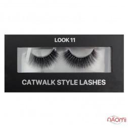 Вії накладні Kodi Professional Catwalk Style Lashes Look 11, на стрічці, чорні