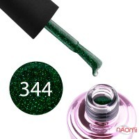 Гель-лак Elise Braun 344 зелена ніч з шимерами, 7 мл