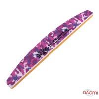 Пилка-баф для нігтів Global Fashion 100/180, півколо, колір в асортименті