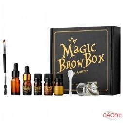 Набор хны для окрашивания бровей Alisa Bon Magic Brow Box