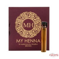Хна для бровей Alisa Bon My Henna Brown коричневая, 2 г