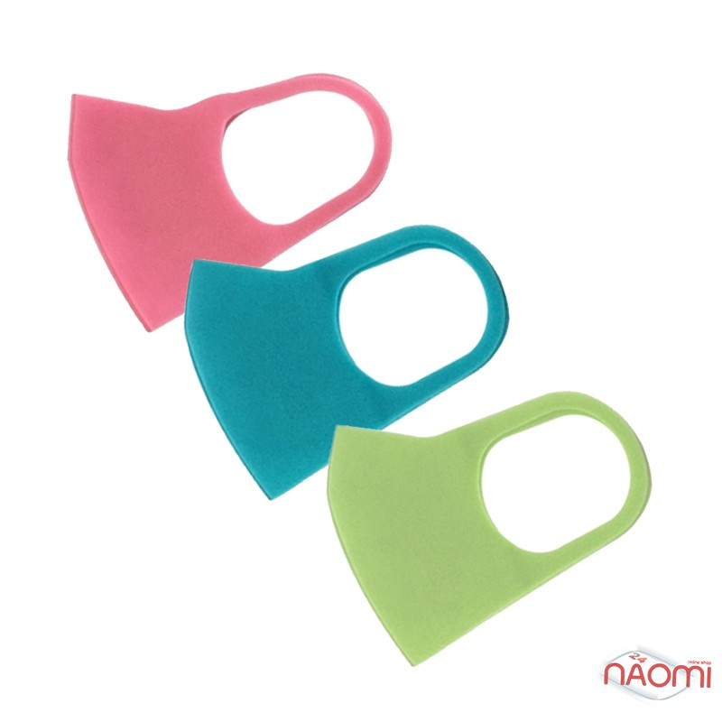 Питта-маска на лицо Fashion Mask многоразовая защитная, цвет ассорти, 3 шт., фото 1, 279.00 грн.