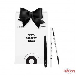 Набор Okis Brow Пинцет для бровей мини + Карандаш Micro Brow Pencil 03 Gentle Brown