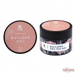 Гель F.O.X. строительный Builder Gel Pink Baby, розовый, 30 мл
