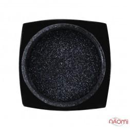 Блестки для украшения ногтей, цвет черный, в баночке, 0,5 г