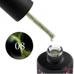 Гель-лак Couture Colour Galaxy Touch Cat Eye GT 08 золотисто-оливковый блик, 9 мл