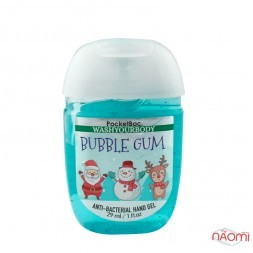 Санітайзер Washyourbody PocketBac Bubble Gum, жувальна гумка, 29 мл