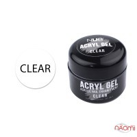 Акрил-гель NUB Acryl Gel Clear, прозорий, 5 г