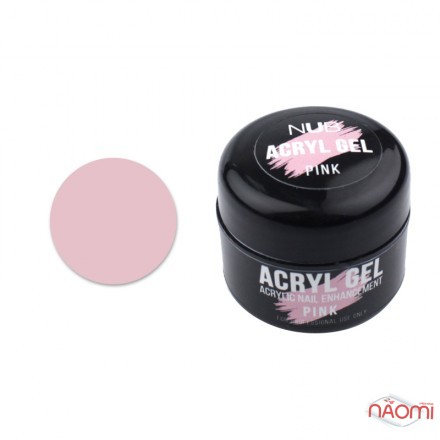 Акрил-гель NUB Acryl Gel Pink, теплый розовый, 5 г, фото 1, 89.00 грн.