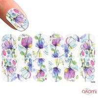 Слайдер-дизайн 1508 Цветы, акварель
