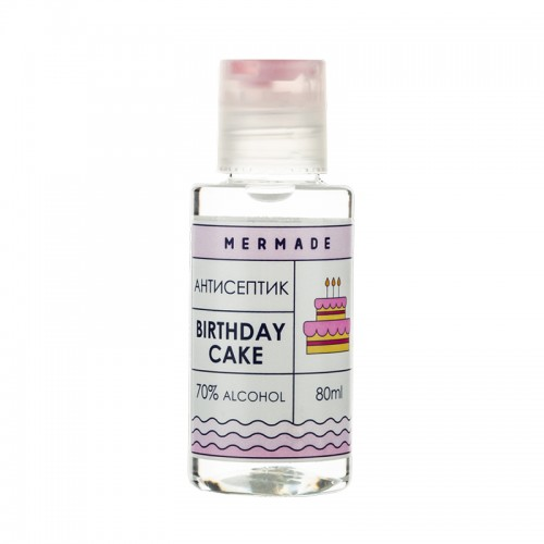 Антисептик для рук Mermade Birthday Cake, ваниль, 80 мл, фото 1, 99.00 грн.