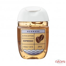 Антисептик для рук Mermade Espresso, аромат кофе, 29 мл