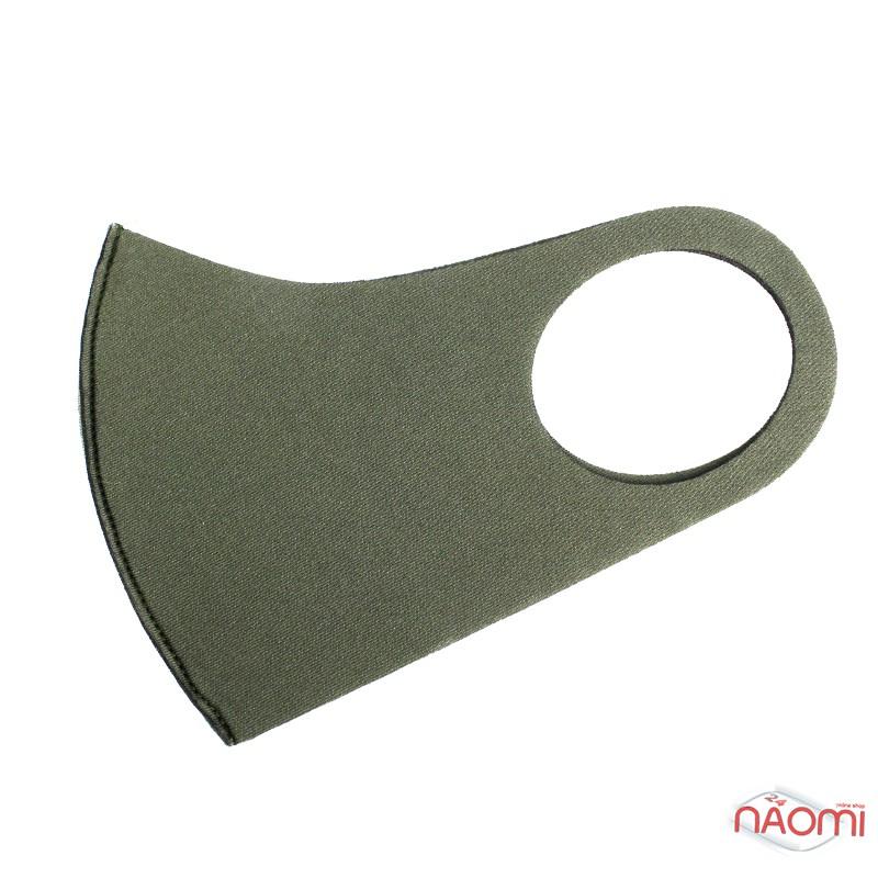 Питта-маска на лицо многоразовая защитная, цвет зеленый, фото 1, 55.00 грн.
