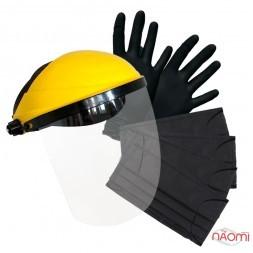 Набір для індивідуального захисту, маски, рукавички, захисний екран для обличчя