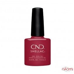 CND Shellac Iconic Satin Sheets сиренево-красный металлик, 7,3 мл