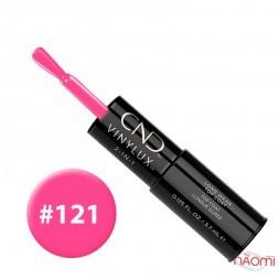 Лак-олівець CND Vinylux 121 Hot Pop Pink яскравий насичено-рожевий, 3,7 мл + закріплювач, 3,7 мл