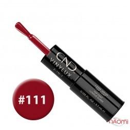 Лак-карандаш CND Vinylux 111 Decadence темный бордово-красный, 3,7 мл + закрепитель, 3,7 мл