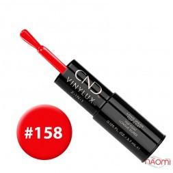 Лак-карандаш CND Vinylux 158 Wildfire красный, 3,7 мл + закрепитель, 3,7 мл