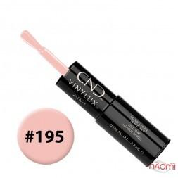 Лак-карандаш CND Vinylux 195 Naked Naivete светлый розовый, 3,7 мл + закрепитель, 3,7 мл