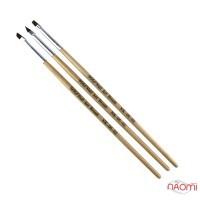 Набор кистей для геля YRE Nail Art Brush NK-06-02, 3 шт.