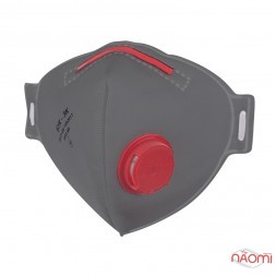 Респиратор БУК-3, класс защиты FFP3 с клапаном, с носовым зажимом, цвет серый