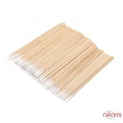 Ватні палички дерев'яні ультратонкі Micro Sticks, 7 см, 100 шт.