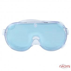 Захисні окуляри з непрямою вентиляцяєю, силіконові, прозорі на резинці