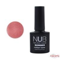 База каучуковая для гель-лака с шиммером NUB Rubber Base Pink Shimmer, 8 мл