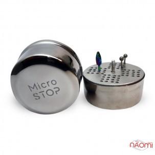 Контейнер універсальний для збереження та стерилізації насадок Мікростоп, металевий, d=67 мм